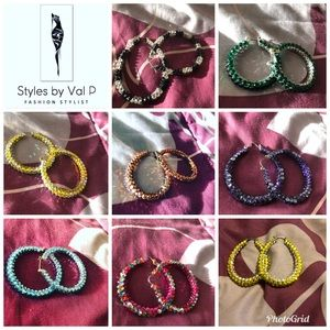 Jewelry - Stunning Swarovski Crystal Hoops and Loops